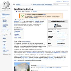 Brookings Institution - Wikipédia - Mozilla Firefox