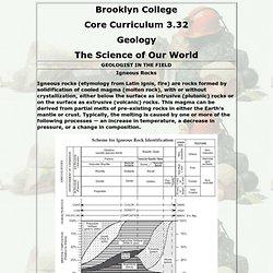 Brooklyn College - Core 3.32 - Geology
