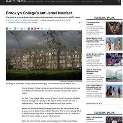 Brooklyn College's anti-Israel hatefest