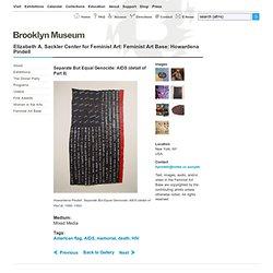 Elizabeth A. Sackler Center for Feminist Art: Feminist Art Base: Howardena Pindell