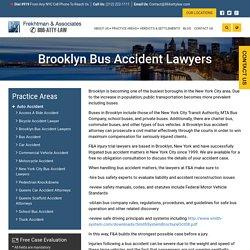 Brooklyn Bus Accident Lawyers - Frekhtman & Associates