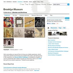 Brooklyn Museum: Libraries and Archives