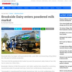Brookside Dairy enters powdered milk market