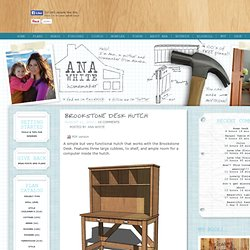 Build a Brookstone Desk Hutch