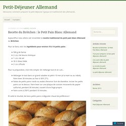 Recette du Brötchen : le Petit Pain Blanc Allemand – Petit-Déjeuner Allemand