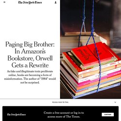 Paging Big Brother: In Amazon's Bookstore, Orwell Gets a Rewrite
