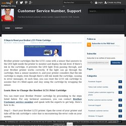 5 Steps to Reset your Brother LC51 Printer Cartridge - Customer Service Number, Support