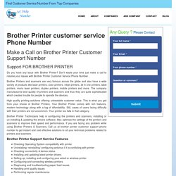 Brother Printer Customer Care Service Support Phone Number – 247HelpNumber
