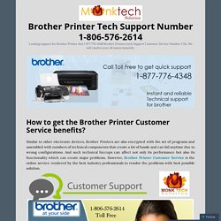 Best services For Brother Printer Tech Support Number 1-806-576-2614