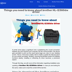 Things you need to know brother HL-l2380dw driver-Fixbrother