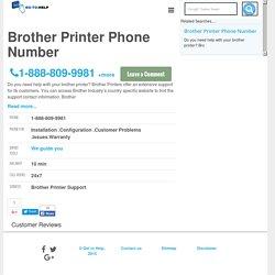 Brother Printer Phone Number