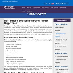 Brother Printer Customer Service 1-888-335-9712 Number