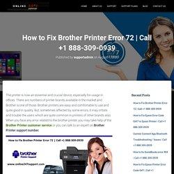 How to Fix Brother Printer Error 72