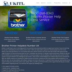 Brother Printer UK Number 0800-098-8343 Brother Printer UK