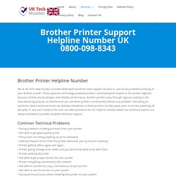 Brother Printer Support Number UK