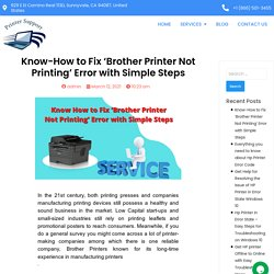 Know-How to Fix Brother Printer Not Printing with Simple Steps