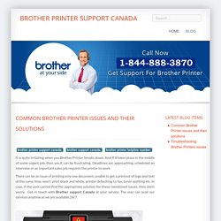 Common Brother Printer issues and their solutions