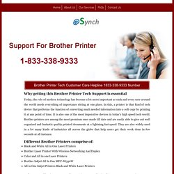 Brother Printer Support 1833-338-9333 Service Contact Number
