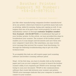 Brother Printer Support NZ Number: +64-04-8879101