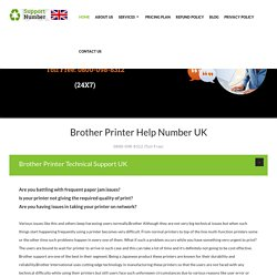 Brother Printer Support Number UK 0800-098-8312