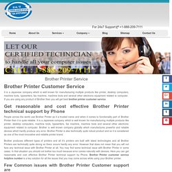 Brother Printer Technical Support 1-888-738-4333 Phone Number