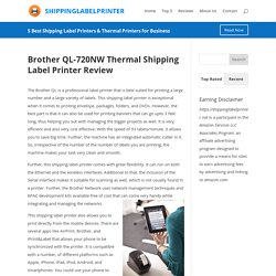 Brother QL-720NW Thermal Shipping Label Printer Review