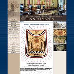 Brother Washington's Masonic Apron - Masonic Library and Museum