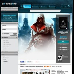 Buy Assassin's Creed Brotherhood Deluxe Edition - GamersGate