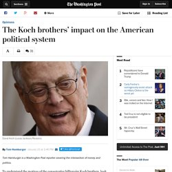 The Koch brothers' impact on the American political system
