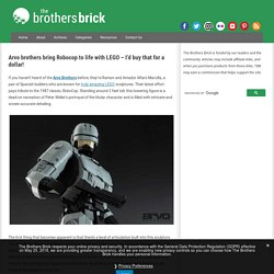 Arvo brothers bring Robocop to life with LEGO - I'd buy that for a dollar!
