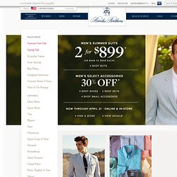 Men | Featured | New Arrivals | Brooks Brothers