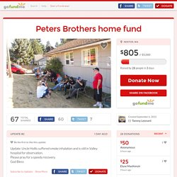 Peters Brothers home fund by Tammy Leonard