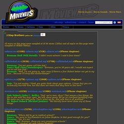 Step Brothers Wavs Mp3s Movie Quotes Movie Sounds Movie Wavs