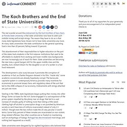 The Koch Brothers and the End of State Universities