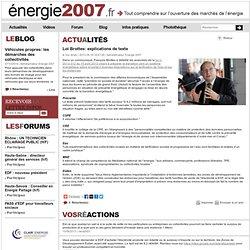 Loi Brottes: explications de texte, Energie 2007.fr