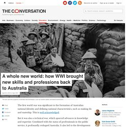 A whole new world: how WWI brought new skills and professions back to Australia