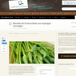 Brouillade aux asperges sauvages