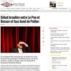 Débat brouillon entre LePen et Besson et faux bond de Peillon