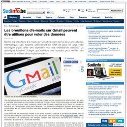 Les brouillons d'e-mails sur Gmail peuvent être utilisés pour voler des données