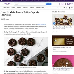 How to Make Brown Butter Cupcake Brownies
