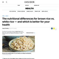 Brown rice vs. white rice: Nutrition facts and which is healthier