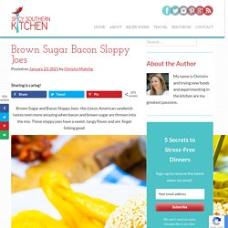 Brown Sugar Bacon Sloppy Joes