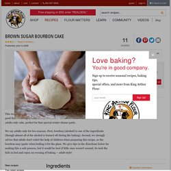 Brown Sugar Bourbon Cake Recipe