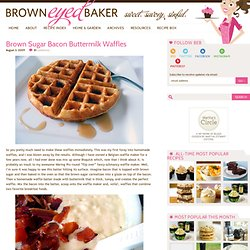 Brown Sugar Bacon Buttermilk Waffles
