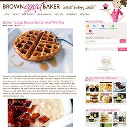Brown Sugar Bacon Buttermilk Waffles