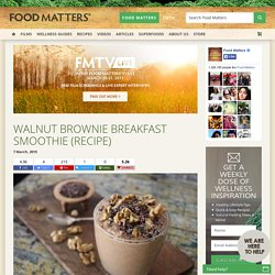 Walnut Brownie Breakfast Smoothie (Recipe)