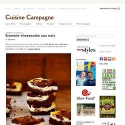 Brownie-cheesecake aux noix