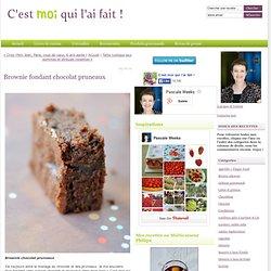 Brownie fondant chocolat pruneaux