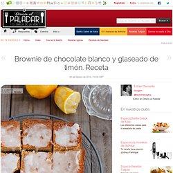 Directo al Paladar - Brownie de chocolate blanco y glaseado de limón. Receta