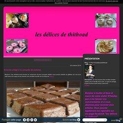 brownie allégé à la compote de pommes - Le blog de lesdelicesdethithoad